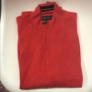 Brooks brothers cotton half zip sweater
